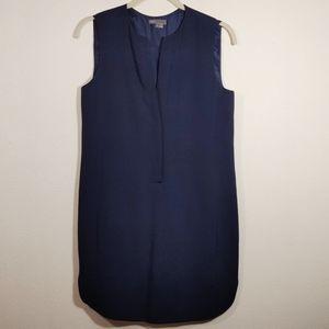 Vince Navy Blue Silk Sleevless Dress 6